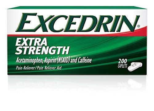 Excedrin Extra Strength Pain Relief Caplets 200 count For Headache Relief by Excedrin ()
