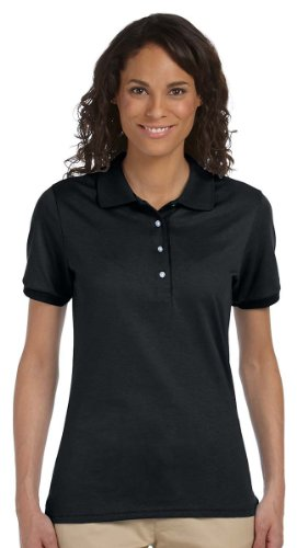 Jerzees womens 5.6 oz. 50/50 Jersey Polo with (Cotton Jersey Sport Shirt)