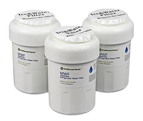 Preferred Parts GE MWF Refrigerator Water Filter | SmartWater Compatible Cartridge (Pack of 3)
