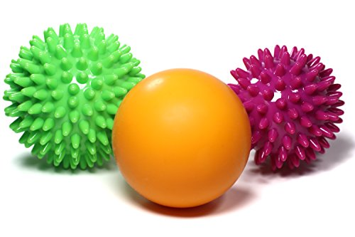 TILFRED Massage Balls Set, Spiky & Smooth Ball plus Bag, Physical Therapy Fascia, Muscle, Back and Foot Massagers, Deep-Tissue Myofascial Release by Tilfred