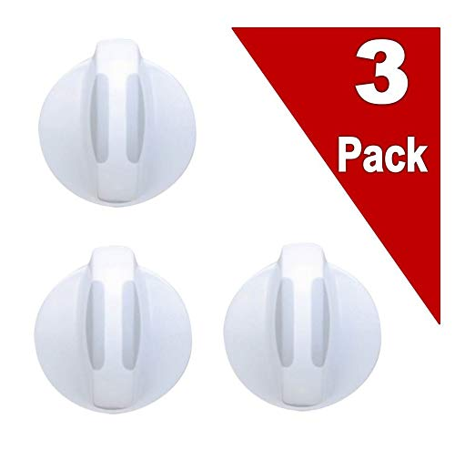 Clothes Knob Selector Washer - (3 Pack) EXP134844410 Washer/Dryer Selector Knob Replaces 134844410, AP4339026, PS2330885, 134034900, 134034910