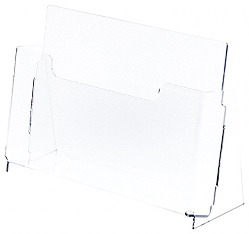 Plymor Brand Clear Acrylic Deluxe Brochure/Document Literature Holder, 12