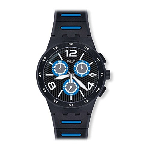 [Swatch] Swatch watch New Chrono Plastic (New Chrono plastic) BLACK SPY (black spy) Men's SUSB410 [regular imported goods] SUSB410 Men's [regular imported goods] ()