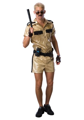 Reno 911 Cop Costumes (Rubies Mens Deluxe Funny Police Cop Reno 911 Lt. Dangle Comical Fancy Costume, One Size)