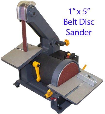 """1"""" X 5"""" Belt Disc Sander Wood Metal Hobbyist 3600 Rpm"""