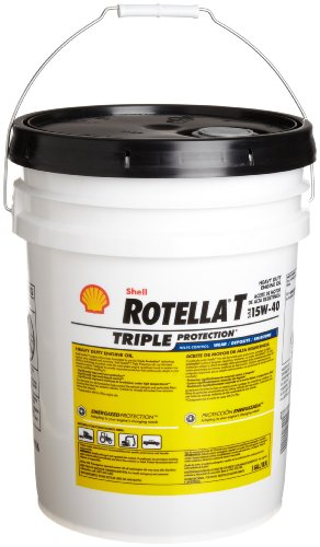 From usa shell rotella 550019916 t triple protection 15w for Shell rotella heavy duty motor oil
