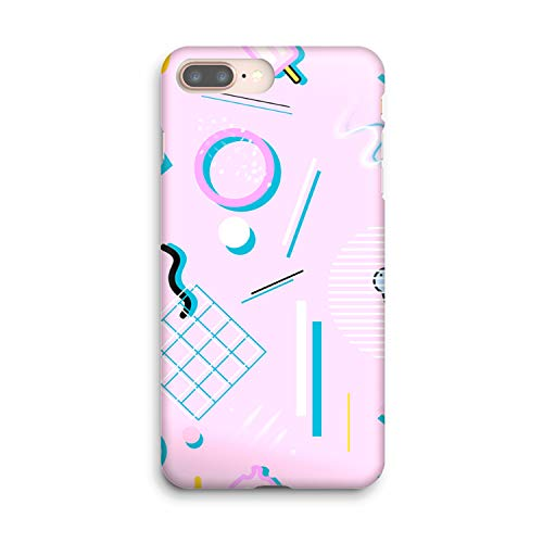 Compatible Memphis Geometry Lesson Soft Gel Case/Replacement for, if Applicable for iPhone 8 Plus