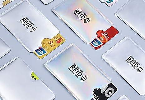 Funda Tarjetas protección RFID Pack 5 España: Amazon.es ...