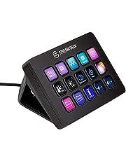 Elgato Stream Deck MK.2 - Dotykowy interfejs sterowania, 15 klawiszy LCD z możliwością dostosowania, wyzwalanie działań w aplikacjach i serwisach OBS, Twitch, YouTube i innych, odłączany kabel USB-C
