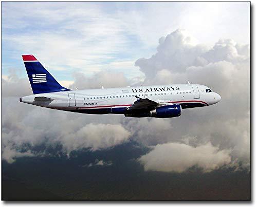 Airbus A319 Us Airways - US Airways Airbus A319 in Flight 11x14 Silver Halide Photo Print