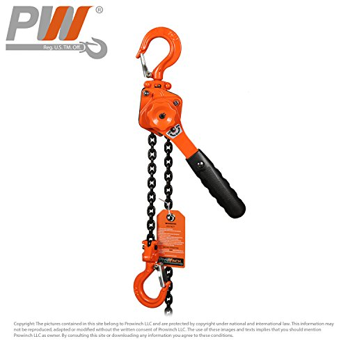 1/2 Ton Hoist - Mini Light Lever Chain Hoist 1/2 Ton G80 Chain Come Along 1100 lb