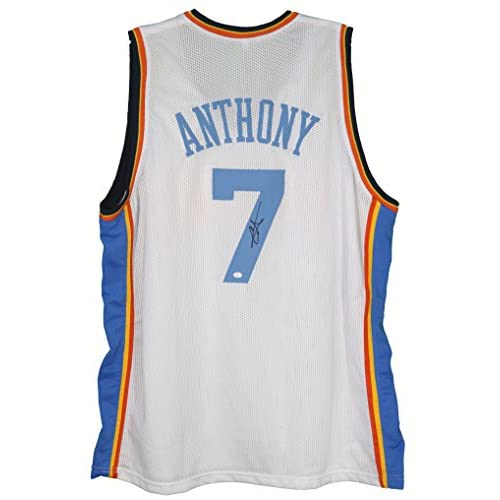 check out d500c e2ce4 Carmelo Anthony Oklahoma City Thunder Signed Autographed ...
