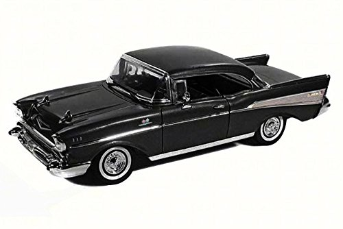 Motor Coupe - Motor Max 1957 Chevy Bel Air Coupe, Black 73180 - 1/18 Scale Diecast Model Toy Car