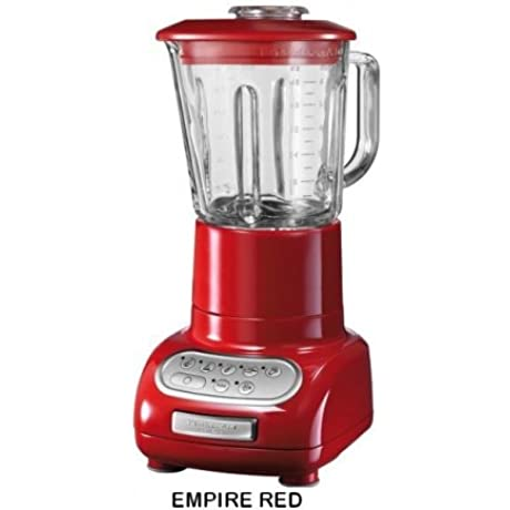 Genuine KitchenAid Artisan Blender 5KSB5553E Backed By KitchenAid Worldwide Three Years Guarantee 220 240 Volts 50 Hz To Use Outside North America EMPIRE RED