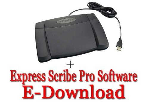 (Express Scribe Pro Transcription Software with USB Foot Pedal)