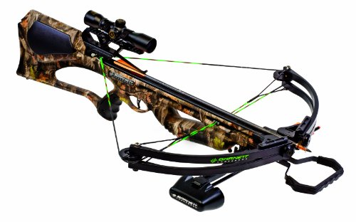 Barnett Quad 400 Crossbow Package (Quiver, 3-22-Inch Arrows and 4x32mm Scope)