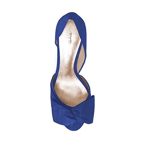 On with Slip Peep Dress D'Orsay Sandals Low Shoes XYD Bowknot Navy Toe Women Heel Pumps AUpqq8g4