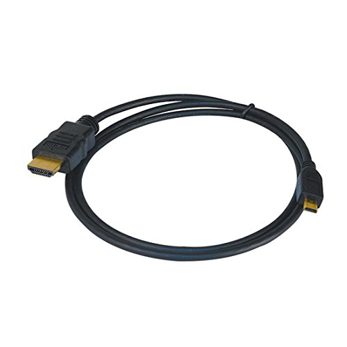 3' Ft HDMI Male to HDMI Micro Male Cable Digital Audio Video 1.4v 34 AWG Cable Pigtail Audio Video Smartphone To TV HDTV to Phone MicroHDMI to HDMI Cable