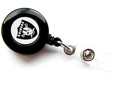 NFL Oakland Raiders Sports Team Logo Retractable Badge Reel Id Ticket Clip