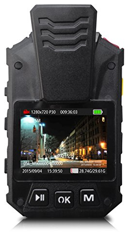 Alpha Digital 1080P HD Wide Angle Police Body Camera, Multi-