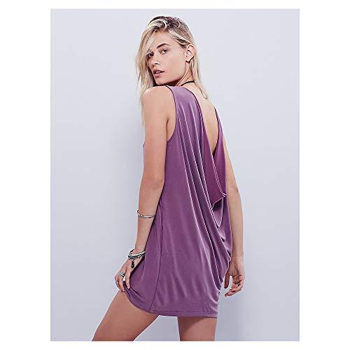 pour Isbxn Femmes Profond M la col Jupe Black Loose Purple Courte en Size Courte Color V Mini Jupe Mode Double Face Robe Sexy qFCrxFwIA