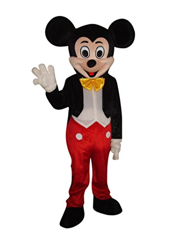 Mickey Mouse Adult Halloween Easter Mascot Costume Fancy Dress Outfit -