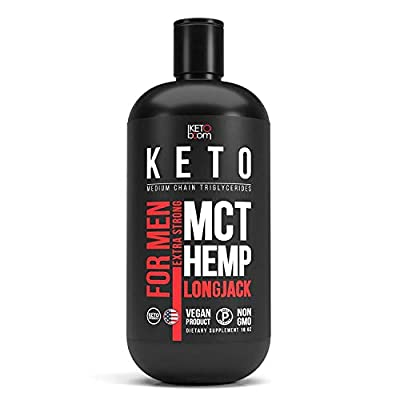 Extra Strong MCT Oil for Men. Includes 30% of Hemp Oil and Longjack Extract.