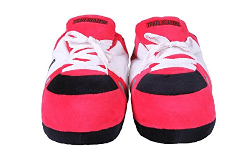 Happy Mens Feet Portland OFFICIALLY Trailblazers Sneaker Slippers and Womens LICENSED Feet and Comfy NBA Ix5nagxT