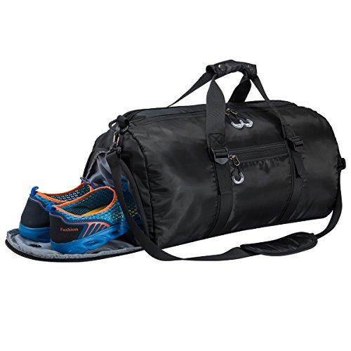 Gym Sports Duffel Bag with Shoes Compartment and Waterproof Pouch Travel Duffel Bag Weekend Bag for Men and ()