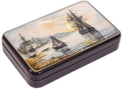Russian Fedoskino Original Lacquer Box - Hand Painted in Russia - Collectible Art Quality