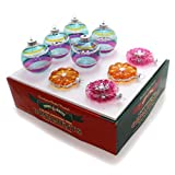 RADKO Shiny Brite Vintage Celebration Flowers & Rounds Ornaments 4026824