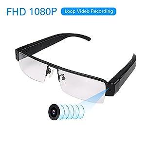 FHD 1080P Wearable Camera With Audio Remote- MINI Spy Camera Sunglasses - Mini DV Camcorder Loop Video Recorder - Take Pics - Support Micro SD Card