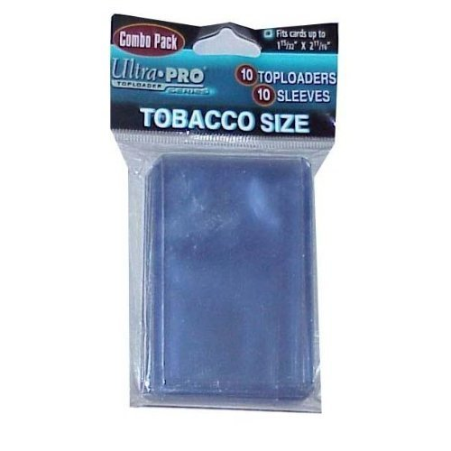 Ultra PRO Tobacco Size Toploaders & Soft Sleeves for Mini Cards (1 Pack of 10)