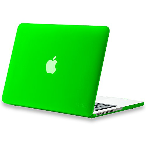 Kuzy - Older Version MacBook Pro 13.3 inch Case (Release 2015-2012) Soft Touch Cover for Model A1502 / A1425 with Retina Display Hard Shell Plastic - Green (Lime Green Laptop Case 13)