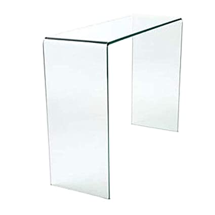 timeless design e7dff 5a961 Curved Glass Console Table w 77.5 xh 31 xd 78 cm Abode Interiors