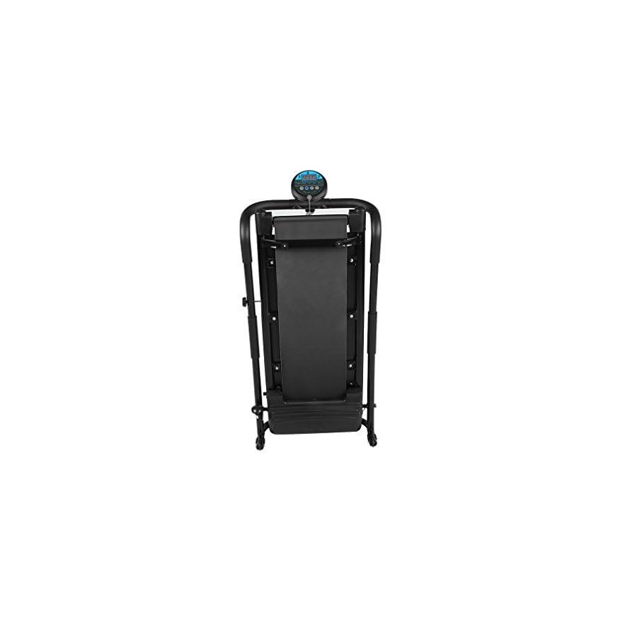 Gomyhom 350W Mini Household Multifunctional Electric Treadmill Running Machine HSM T02 Training Fitness Sports Equipments Black