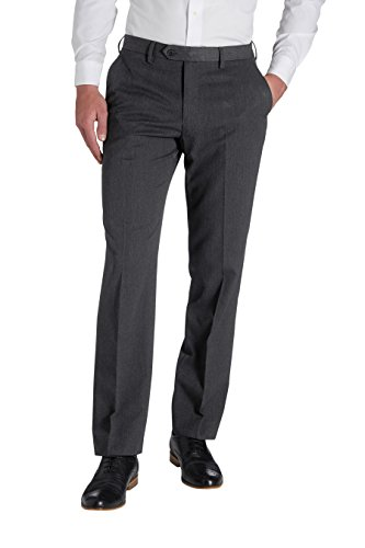 next Homme Pantalon sans pinces Gris Anthracite 40 / Regular - Regular Fit