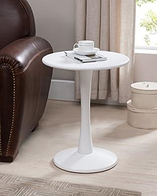 مفرش خشبي بلمسة نهائية باللون الأبيض من Kings Brand Furniture
