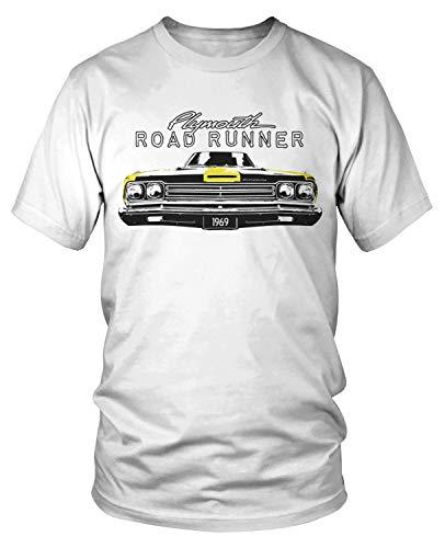 Amdesco Men's Plymouth Road Runner Officially Licensed T-Shirt, White 2XL ()