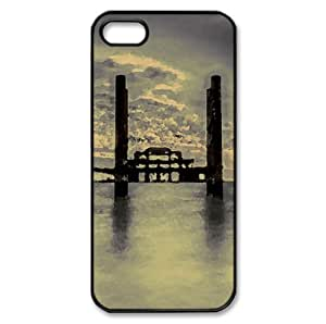 Rust in Time Watercolor style Cover iPhone 5 and 5S Case (Beach Watercolor style Cover iPhone 5 and 5S Case)