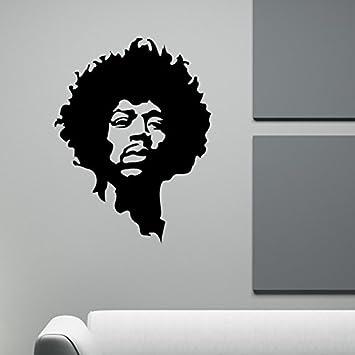 Large Jimi Hendrix Body Rock Guitar Legend Graphic Vinyl Decal Sticker Art