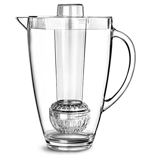 Brilliant - Patio Acrylic Pitcher 2-in-1 with Fruit Infuser and Ice Rod, 94.5 oz.(2.8 Liters)