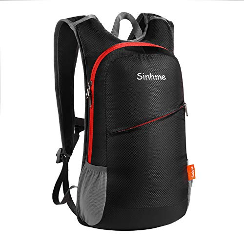 Sinhme Waterproof Riding Backpack Motocycle Backpack Cycling Backpack Casual Business Outdoor Lightweight Waterproof Men and Women (Black)