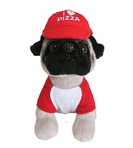 Kids Preferred Doug The Pug Pizza Pug Mini Stuffed Animal, 6