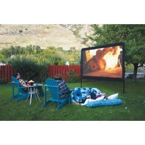 Backyard Outdoor Home Theater In A Box, Portable Dvd Projector With Outdoor  Movie Screen And