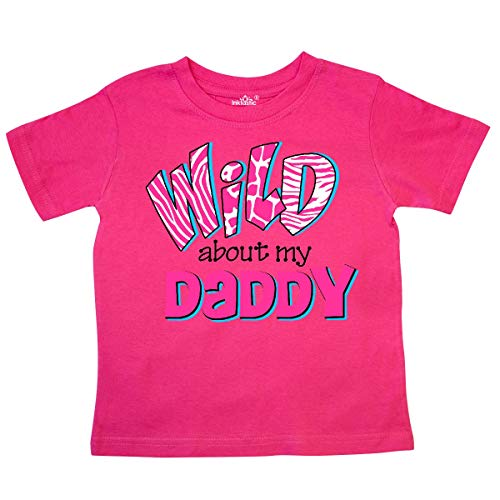 inktastic - Wild About Daddy Toddler T-Shirt 3T Hot Pink 3620b