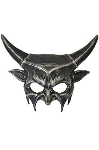 [Mememall Fashion Demonic Inferno Mardi Gras Masquerade Mask (Black/Silver)] (Demonic Masks)