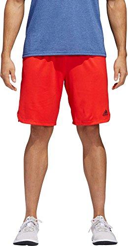 adidas Men's Axis Knit Training Shorts (Hi Res Red, XL)