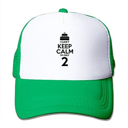 WYF Men&women I Can't Keep Calm I'm Two Children Cute 2 Years Old Outdoor Hip Hop Camping Cotton Mesh Hat - Fit Stretch A To Flex Hat How