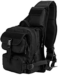Matoger Tactical Military Chest Package Sling Pack Backpack Nylon Shoulder Bags